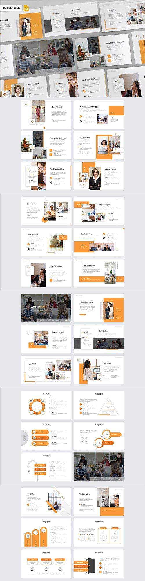 COMPANY PROFILE - Google Slide PPTX Template V178