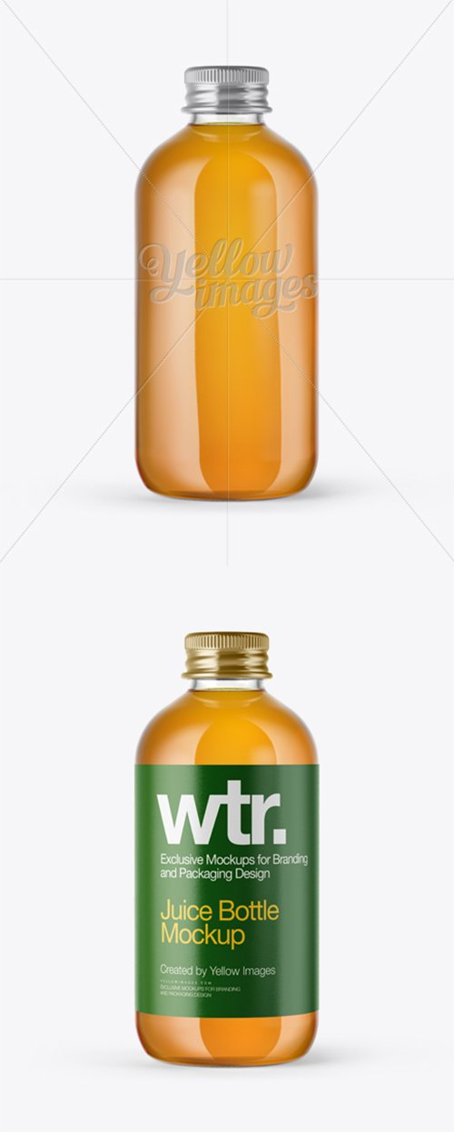 Clear Glass Apple Juice Bottle Mockup 14080 TIF