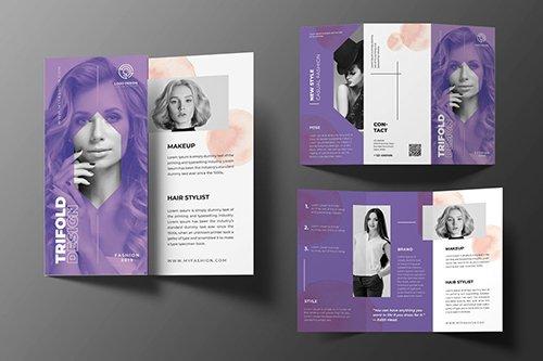 Beauty Fashion Trifold Brochure