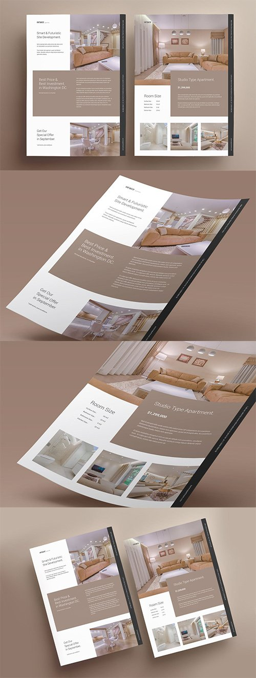 Real Estate Property Promo Vector Flyer