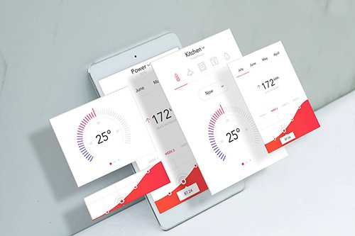 Tablet Mobile Layers Mockup