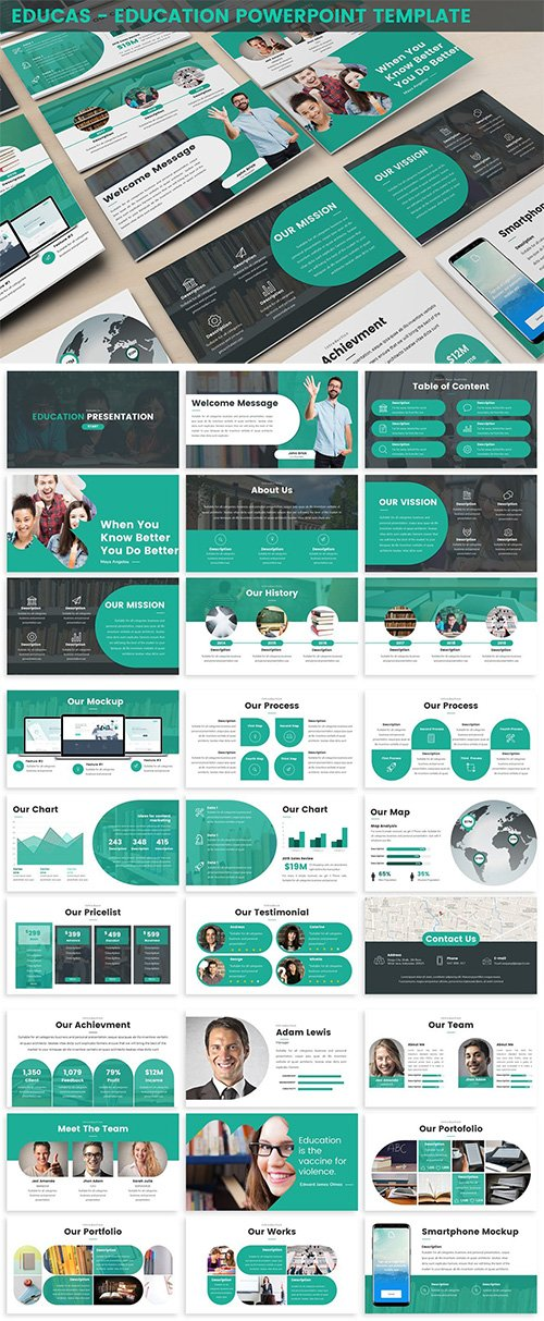 Educas - Education Powerpoint Template