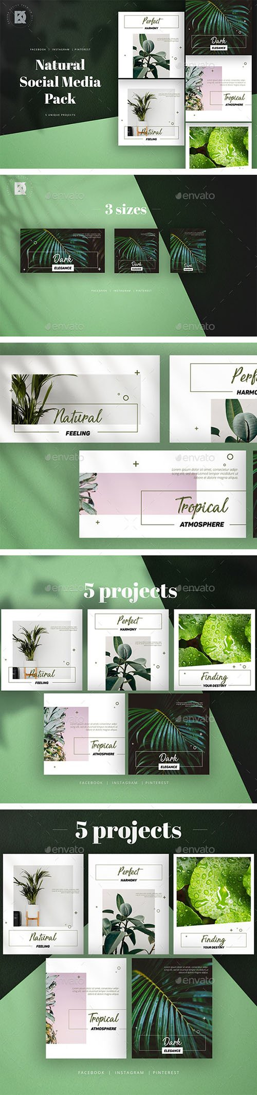 GraphicRiver - Natural Social Media Pack 23630231