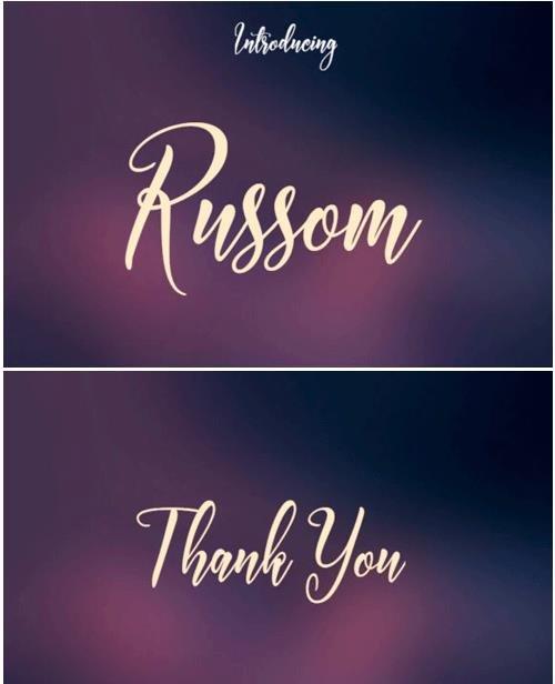 Russom Font