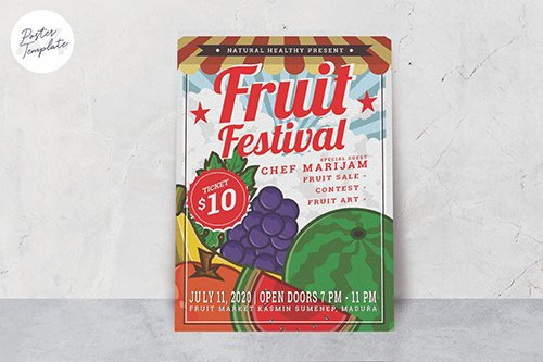 Fruit Festival Poster Template