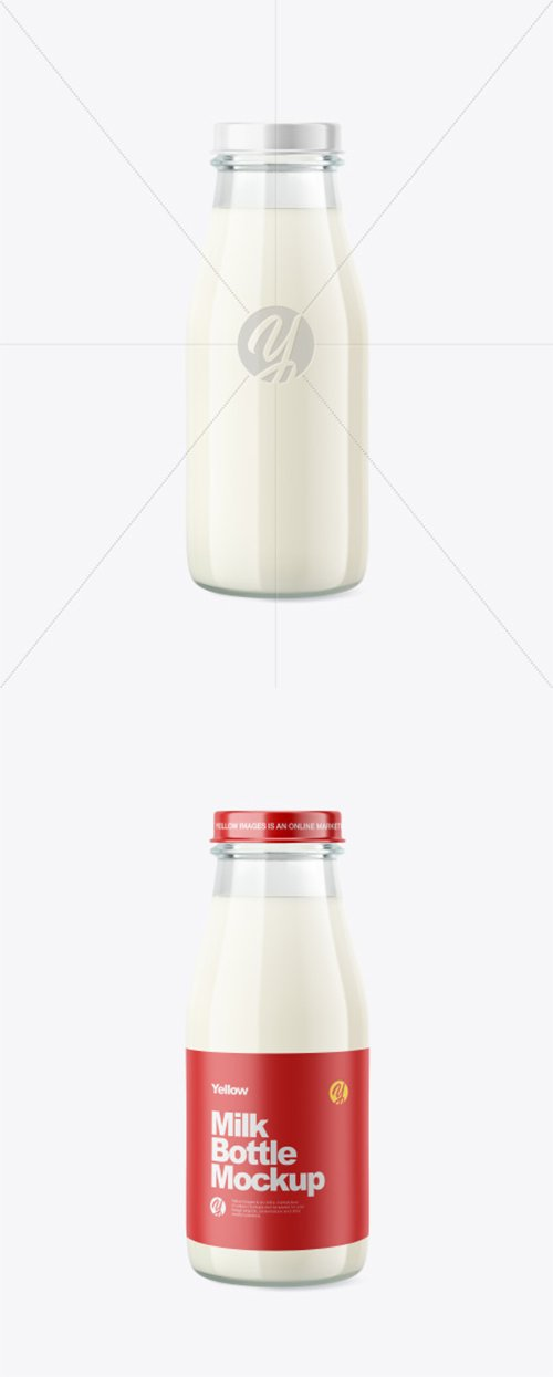 Glass Milk Bottle Mockup 39583 TIF