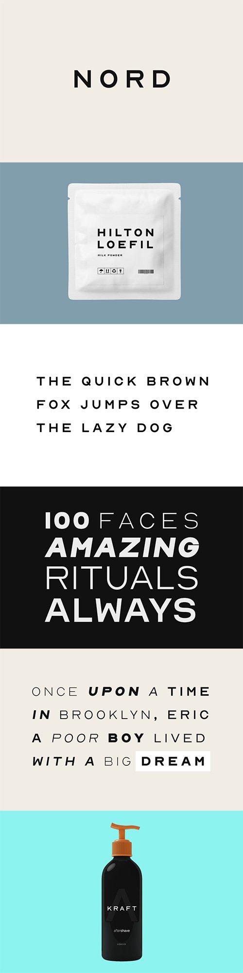 NORD - Minimal Display / Headline / Logo Typeface