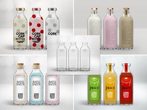 Cork and Cap Bottle Packaging Mockup 251459347 PSDT