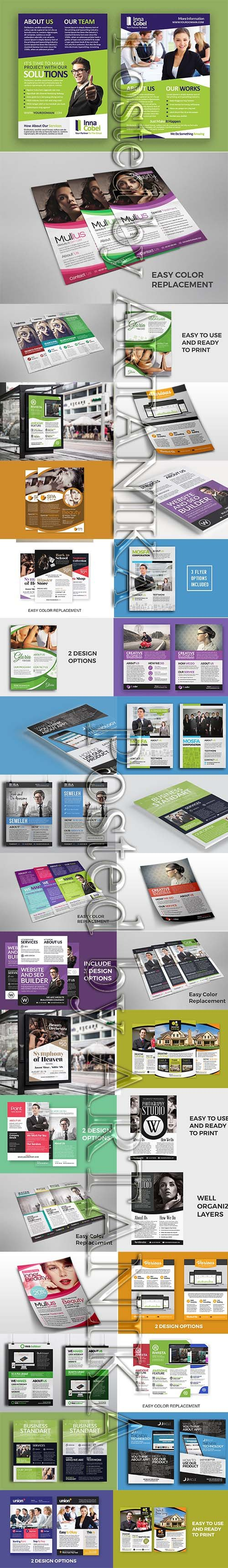 Business and Commerce Flyer PSD Template Pack