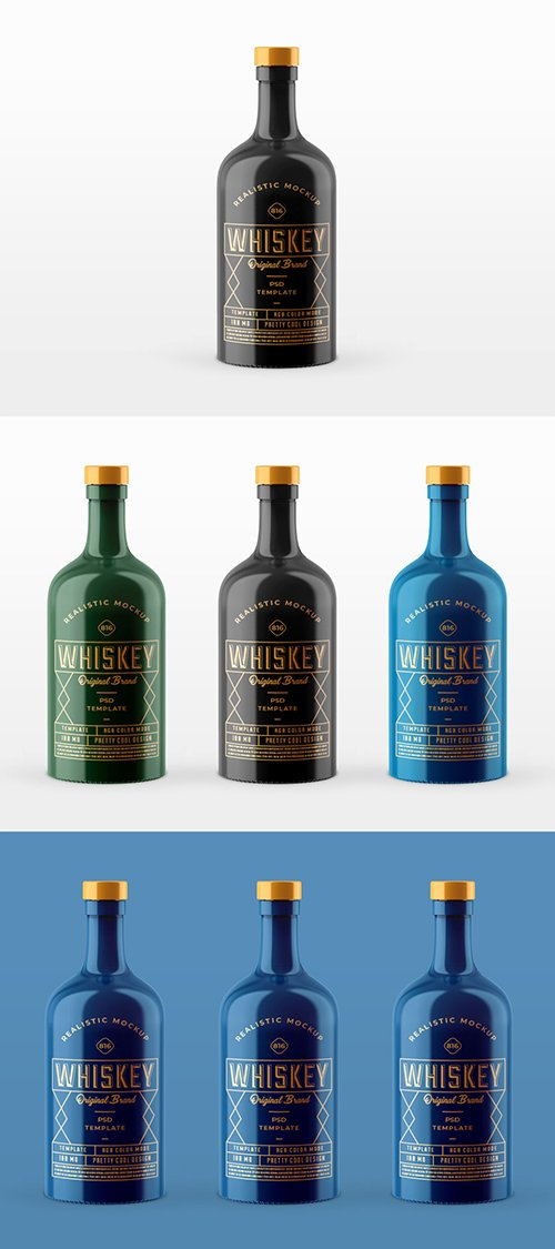 Whiskey Bottle Mockup 252308186 PSDT
