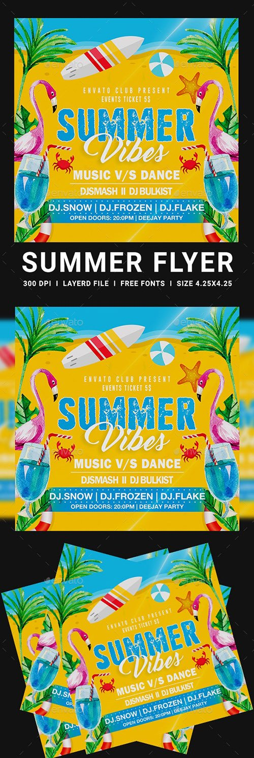 Summer Party Flyers 23800276