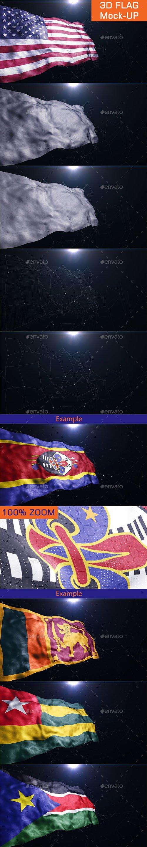 3D Flag Mock-UP 23356871