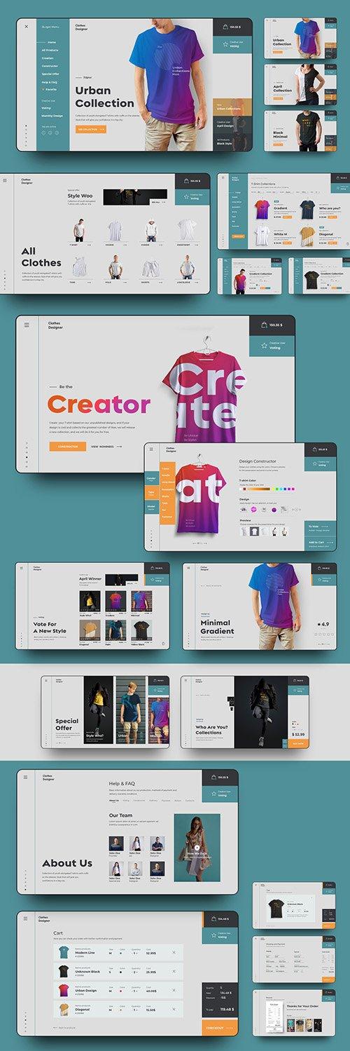 PSDT User Interface E-Commerce Website Page Layout Set 277961699