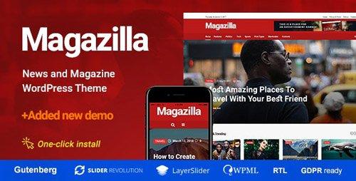 ThemeForest - Magazilla v1.0.4 - News & Magazine Theme - 21958987