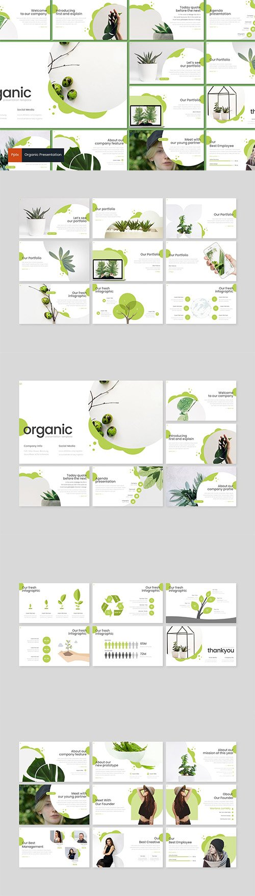 Organic - Powerpoint, Keynote and Google Slides Templates