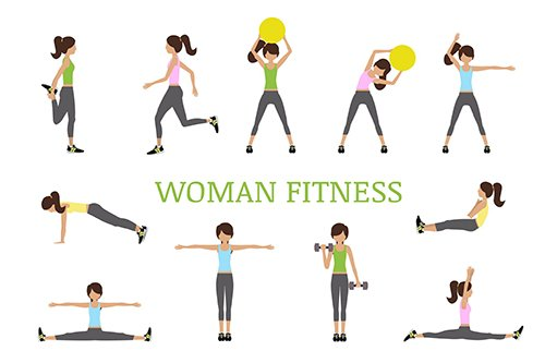 Woman Vector Fitness