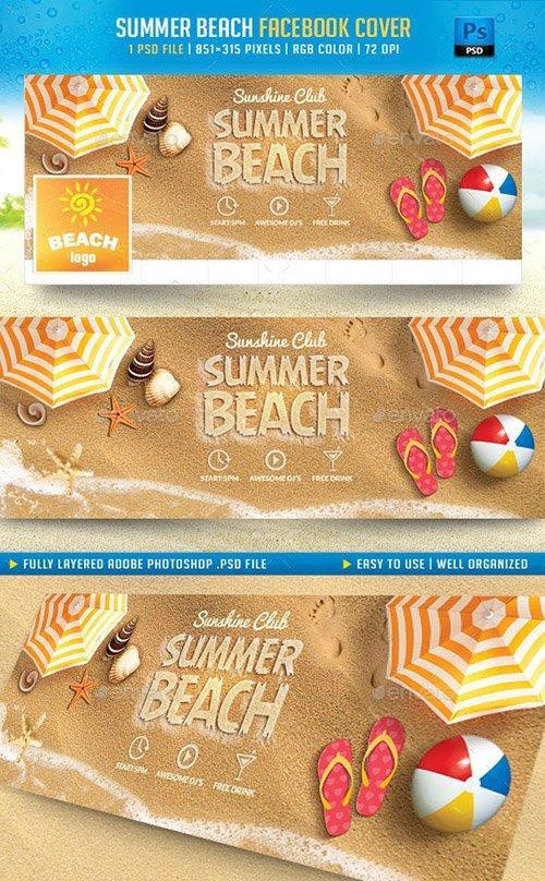 Summer Beach Facebook Cover 11491659