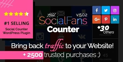CodeCanyon - SocialFans v5.0.2 - WP Responsive Social Counter Plugin - 6217746
