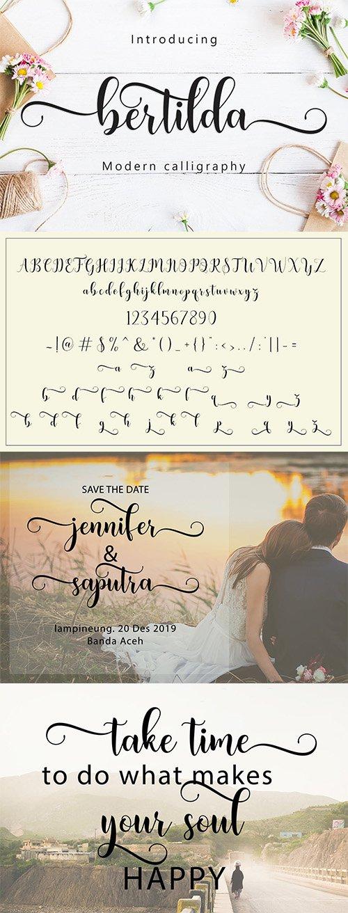 Bertilda Script Font