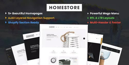 ThemeForest - HomeStore v1.0.0 - Modern, Minimal & Multipurpose Shopify Theme with Sections - 23147711