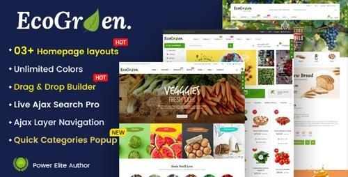 ThemeForest - EcoGreen v1.0.1 - Multipurpose Organic, Fruit, Vegetables Shopify Responsive Theme - 23246235