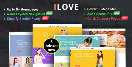 ThemeForest - iLove v1.0.1 - Highly Creative Responsive Shopify Theme (Sections Drag & Drop Ready) - 20774918