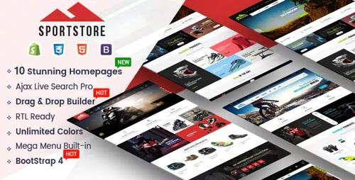 ThemeForest - SportStore v1.0.0 - Multipurpose Drag & Drop Sectioned Shopify Theme (Update: 1 April 19) - 23355485