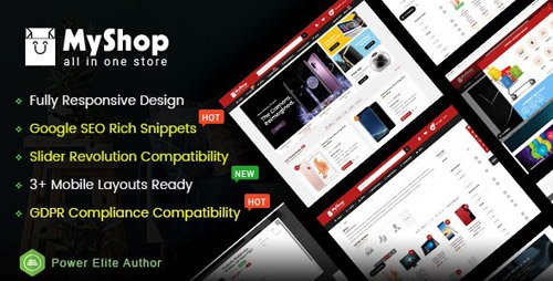ThemeForest - MyShop v1.0.0 - Top Multipurpose OpenCart 3 Theme (3+ Mobile Layouts Included) - 22028738
