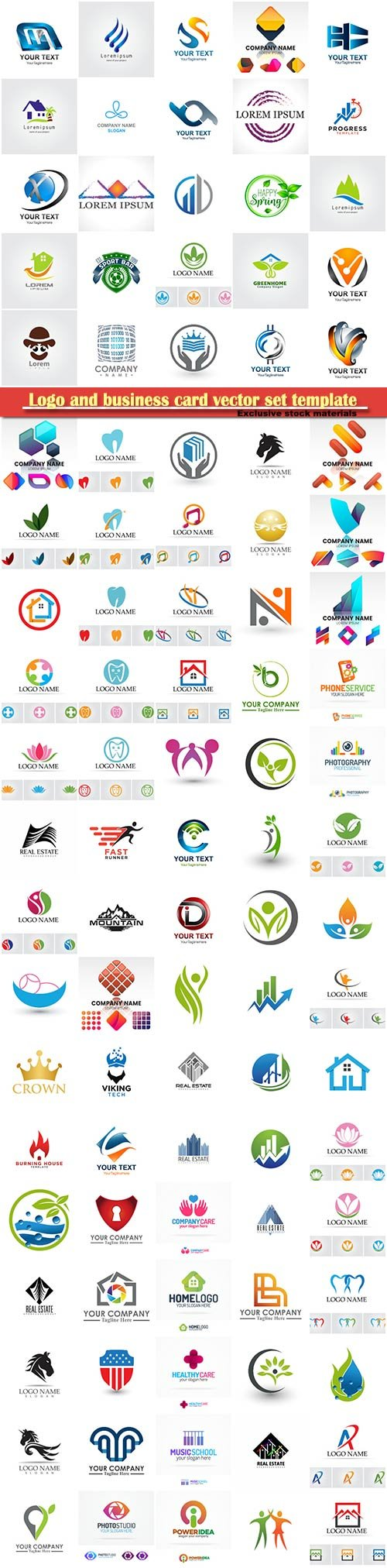 Logo and business card vector set template # 9