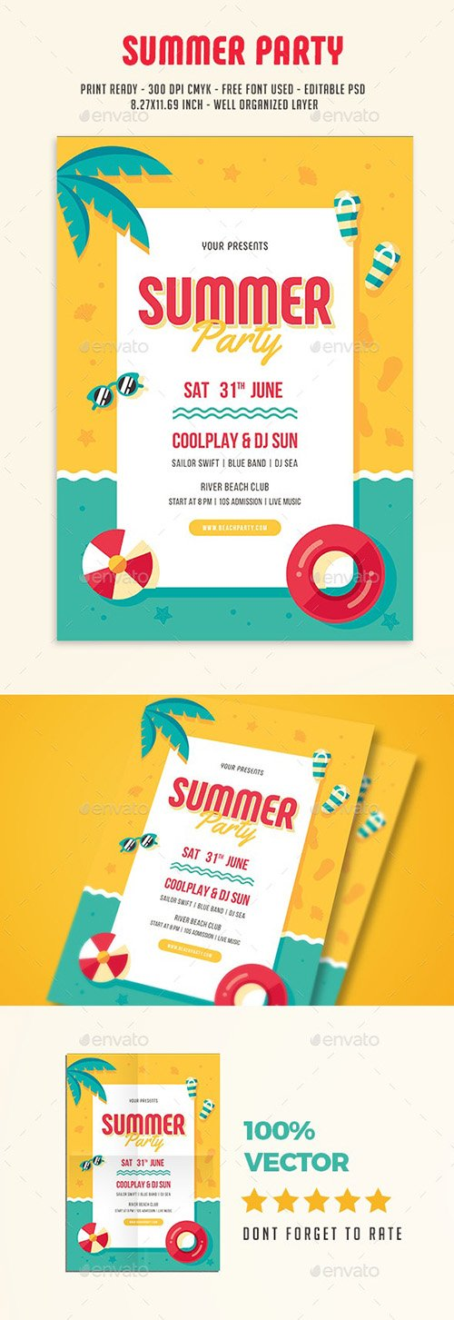 Summer Party Flyer 19880964