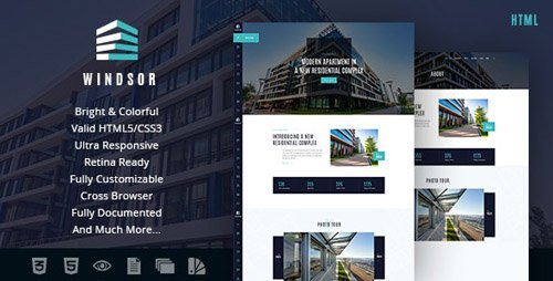 ThemeForest - Windsor v1.0 - Apartment Complex / Single Property Site Template - 18939023