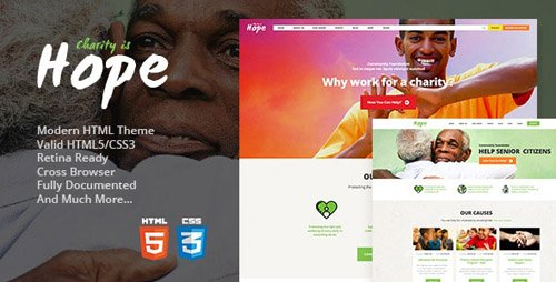ThemeForest - Hope v1.2 - Non-Profit, Charity & Donations Site Template - 19334865
