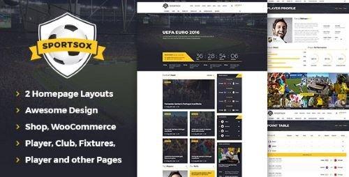 ThemeForest - Sportsox | Sport Team Clubs PSD Template 17649785