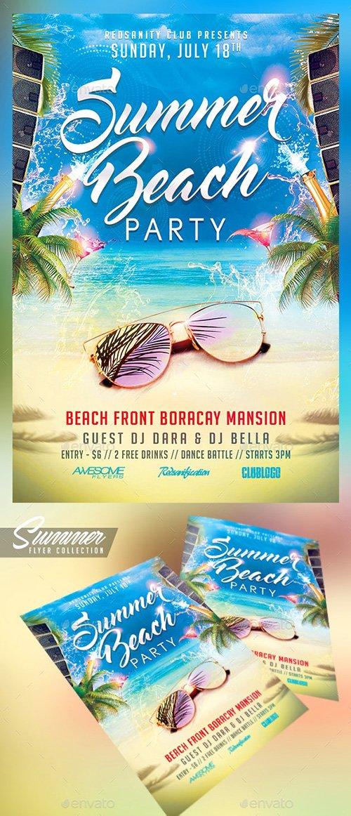 Summer Beach Party Flyer - 19922739