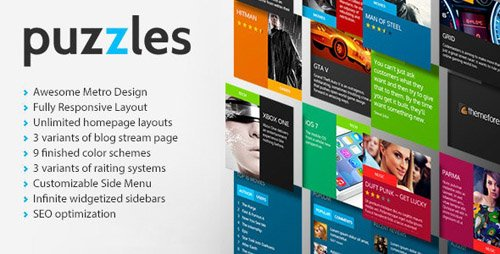 ThemeForest - Puzzles v1.0 - Magazine/Review HTML Theme - 8074069
