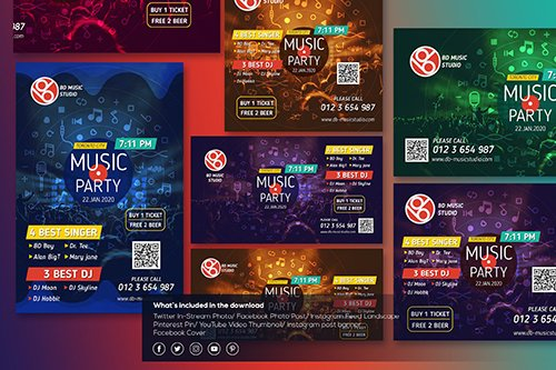 Music Party-Social Media Template