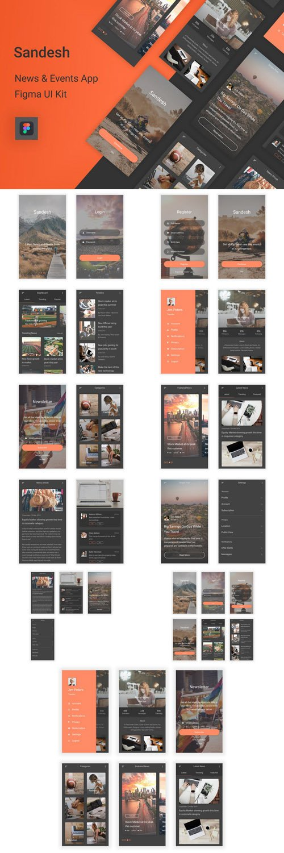 Sandesh - News & Events Figma UI Kit