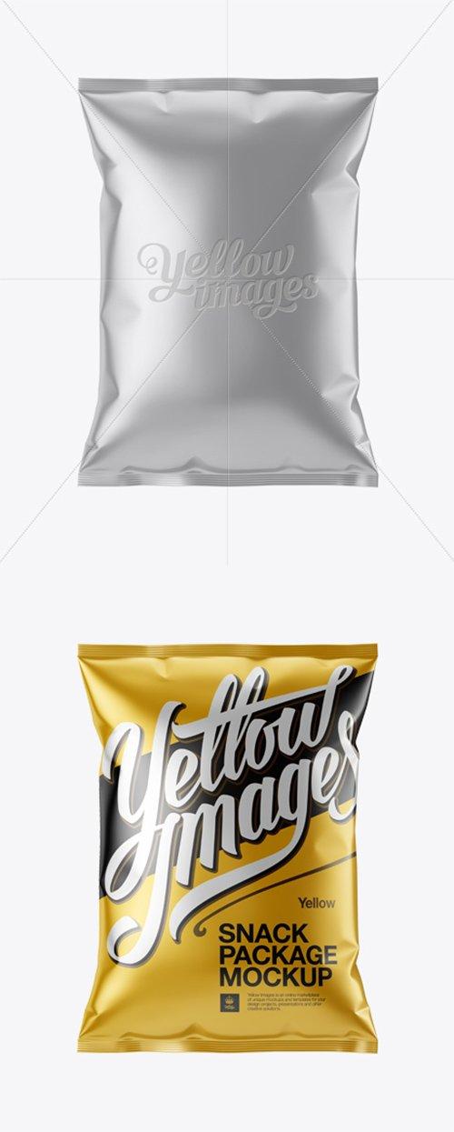 Matte Metallic Snack Package Mockup 13269 TIF