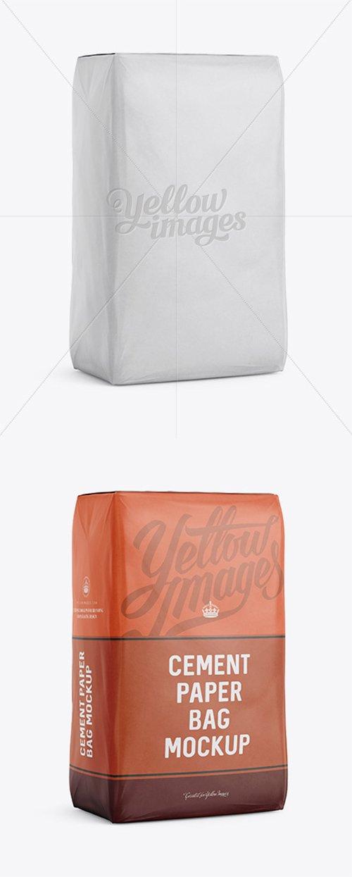 Cement Paper Bag Mockup - Halfside View 13390 TIF
