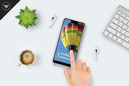 Mobile on Table Mockup