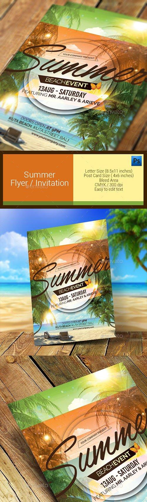 Summer Event Flyer / Invitation 11286637
