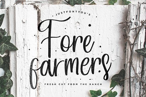 Forefarmers - Rustic Casual Vintage Font