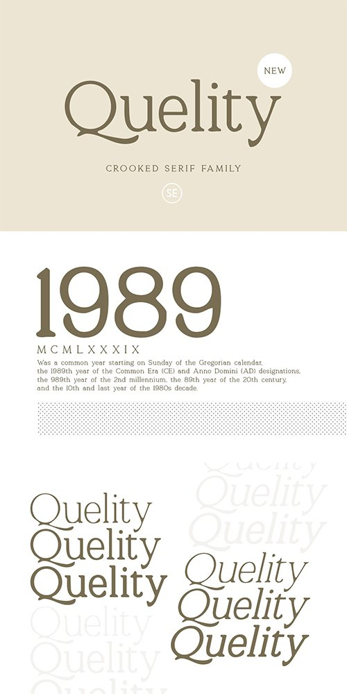 Quelity - Crooked Serif Font