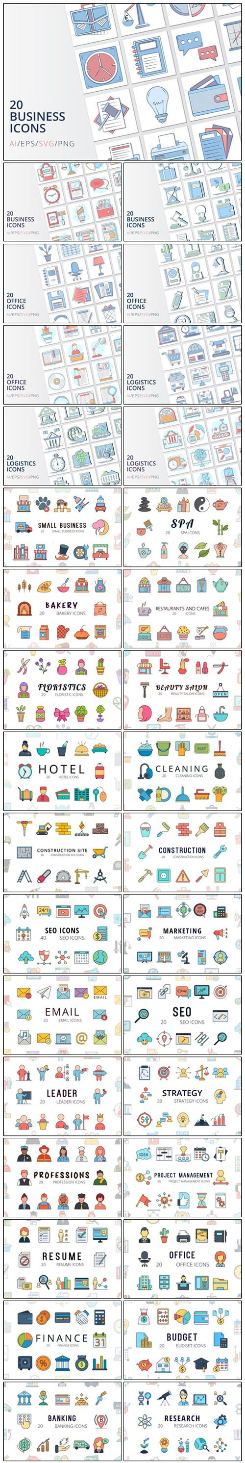 36 Huge Set of Vector Icons