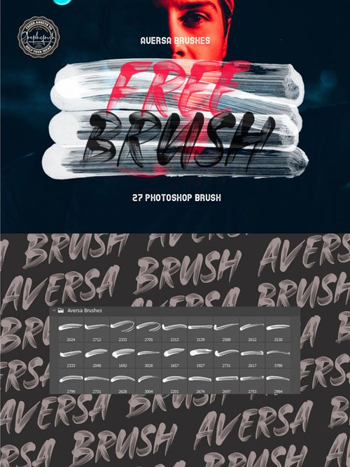 27 Stroke Brushes for Photoshop