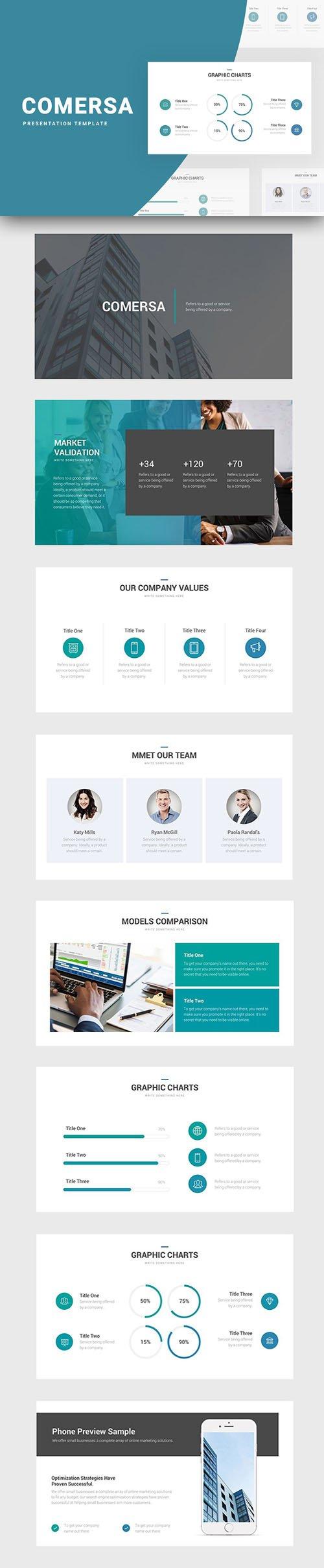 Comersa Presentation [ PPTX / KEY / Google Slides ] Templates