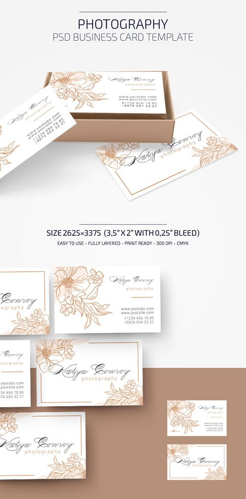 Photography PSD Business Card Template