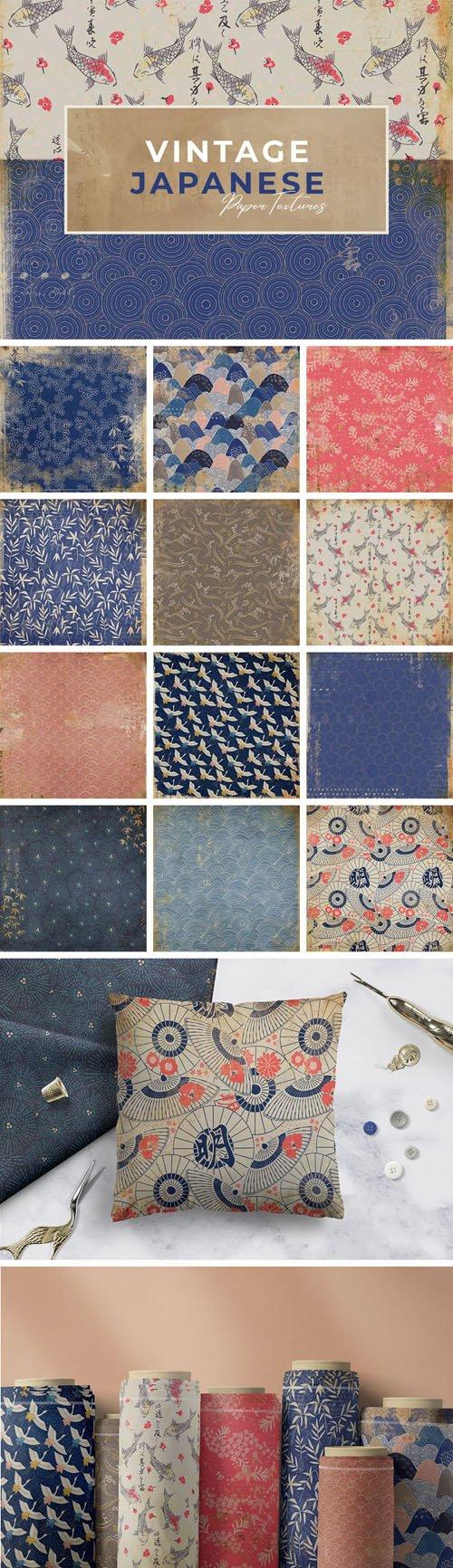 12 Vintage Japanese Paper Textures