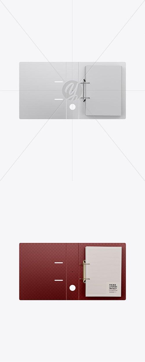 Matte Folder w/ Papers Mockup 37881 TIF