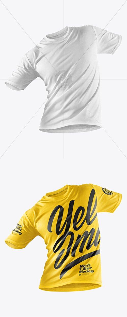 Men's T-Shirt with Mini Eyelet Fabric Mockup 37996 TIF
